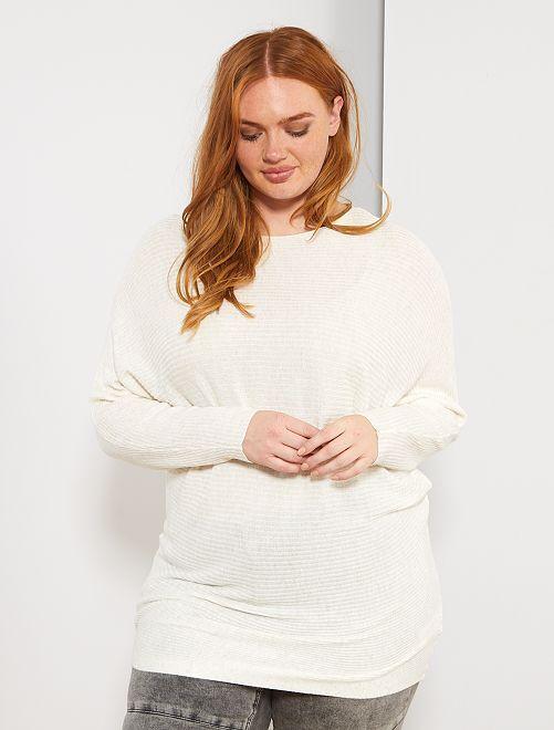 Pull chauve-souris détail métallique                             blanc