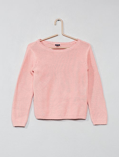 Pull col brillant                                                                 rose clair Fille