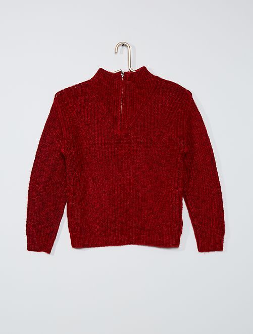 Pull col camionneur                                                     rouge