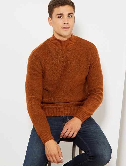 Pull col montant                                                                                         rouille
