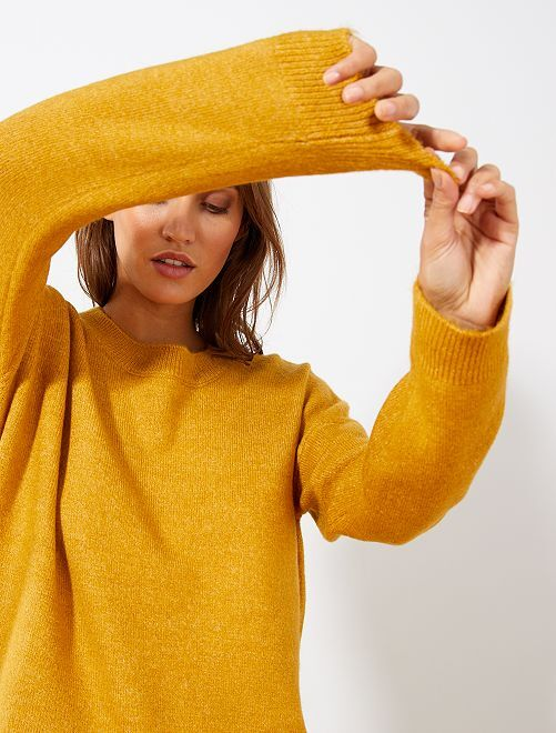 Pull col rond basique                                                                                                     ocre