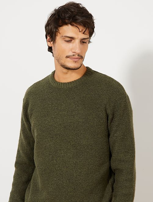 Pull col rond                                                                                                                 vert forêt