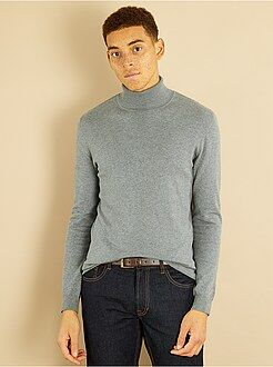 Pull, gilet - Pull col roulé maille fine