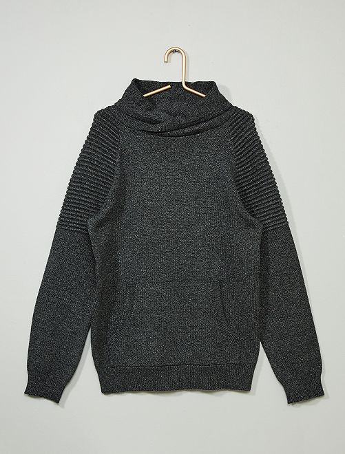 Pull col tubulaire                             gris