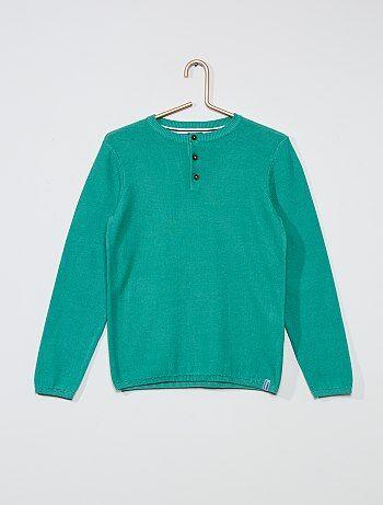 Pull Vêtements garçon   vert   Kiabi