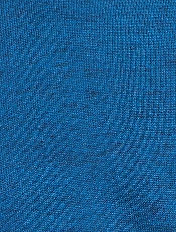 Pull col V éco conçu Homme bleu canard chiné Kiabi 12,00€
