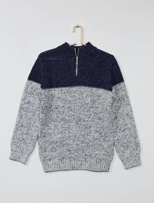 Pull color-block                             gris