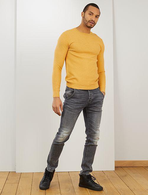 Pull coton 'éco-conception'                                                     jaune