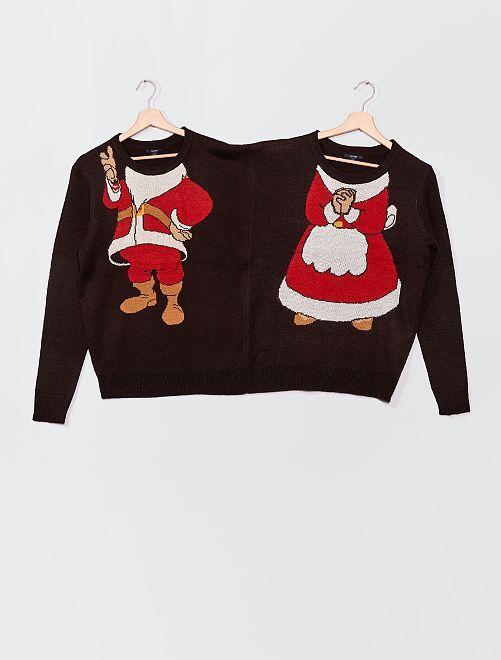 Pull couple de Noël                             noir