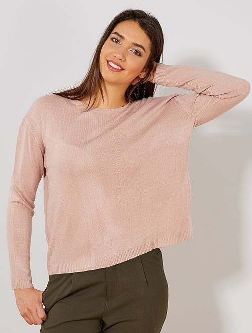 0bdab6a37 Pull court en fine maille