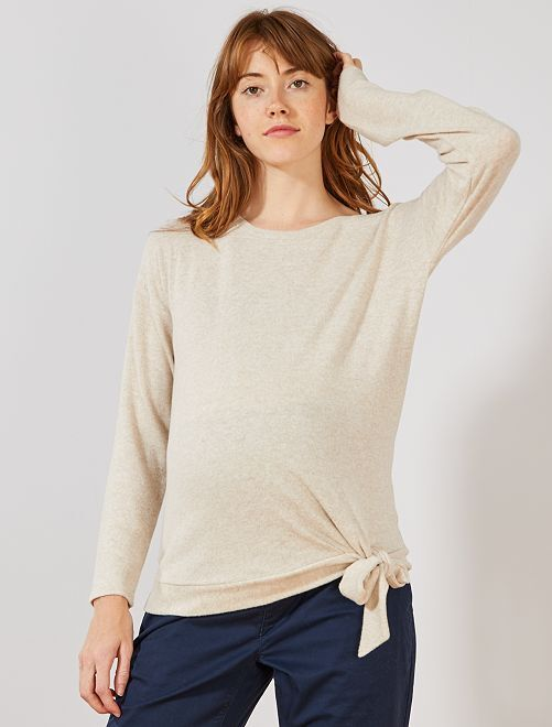 Pull de grossesse maille extra-douce                                         beige
