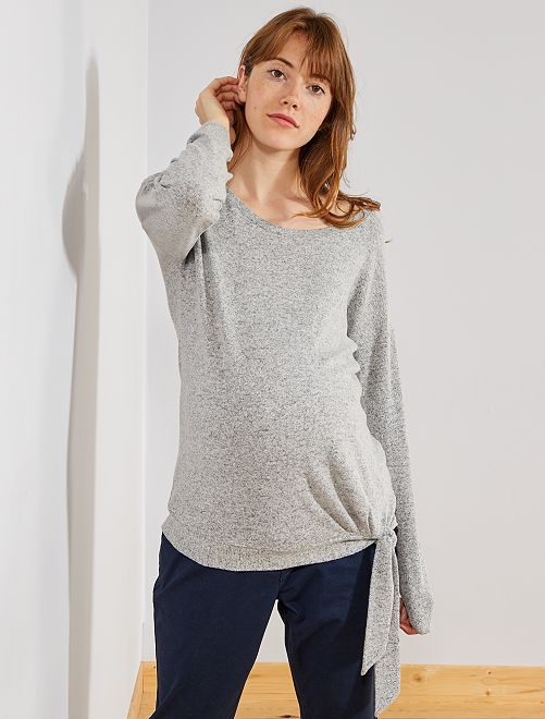 Pull de grossesse maille extra-douce                                                                 gris