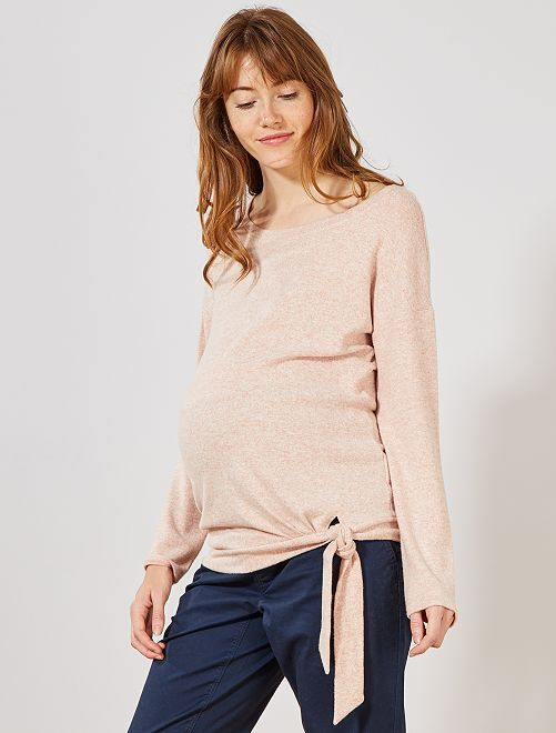 Pull de grossesse maille extra-douce                                                                 rose Vêtement de grossesse