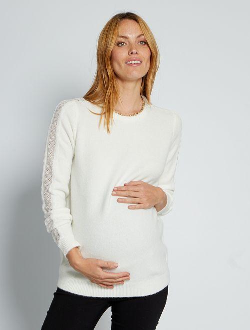 Pull de maternité                                         blanc