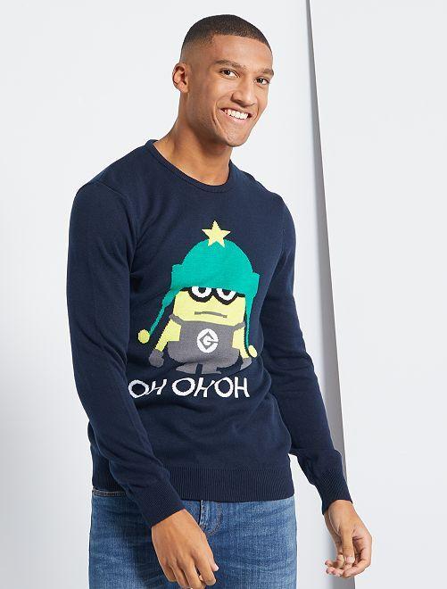 Pull de Noël 'Les Minions'                             bleu marine