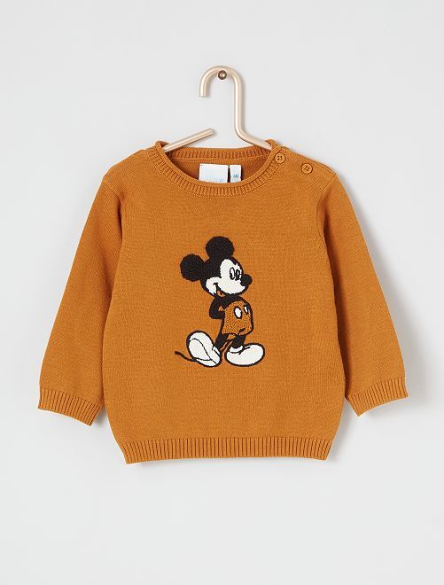 Pull 'Disney' éco-conçu                                                     jaune mickey