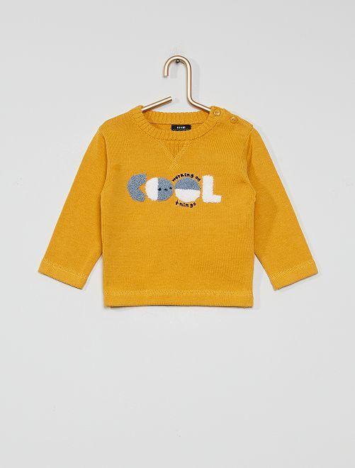 Pull 'éco-conçu'                             jaune moutarde