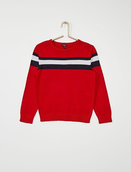 Pull éco-conçu                                                     rouge