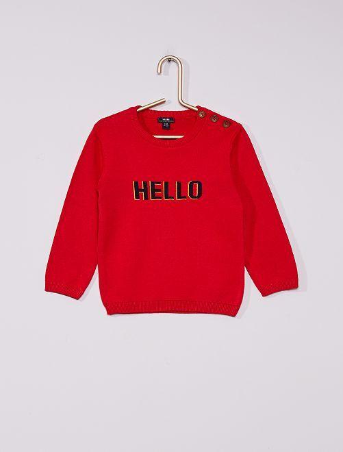 Pull éco-conçu                                                                             rouge/hello