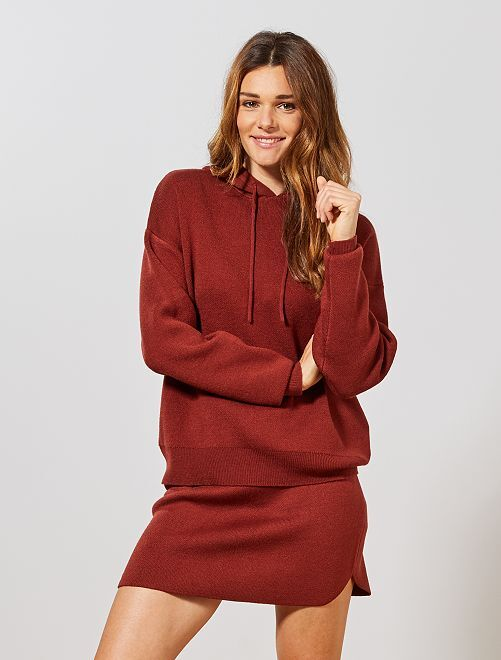 Pull effet sweat                             rouge rouille