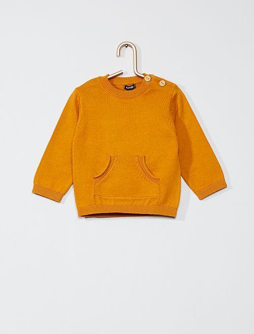 Pull en coton 'éco-conception'                                                     orange