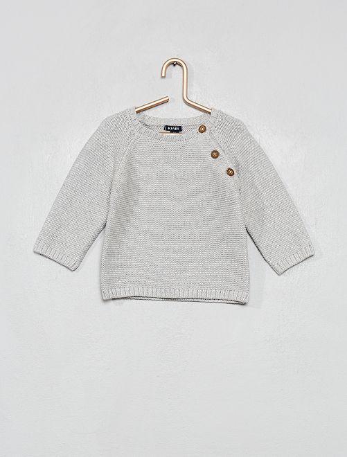 Pull en coton                                                                                                     gris clair