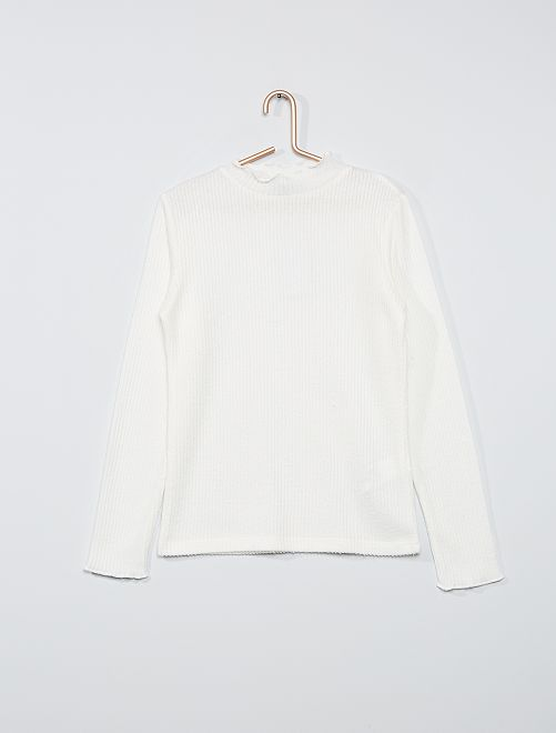 Pull en maille douce                                         blanc
