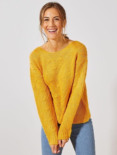 Pull en maille fantaisie                                                                             jaune