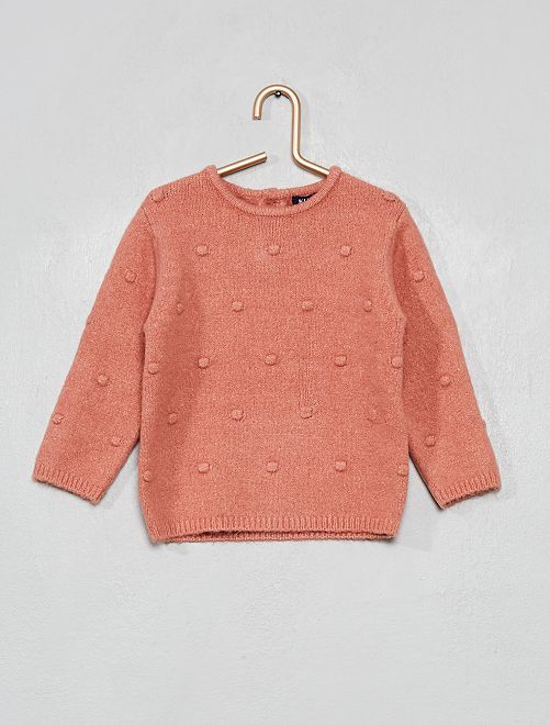 Pull en maille mousseuse                     rose
