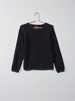Pull - Pull en maille point mousse - Kiabi