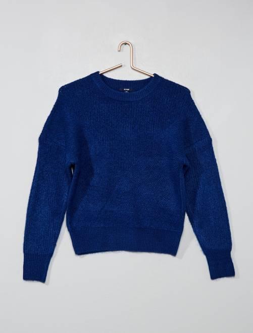 Pull en maille tricot                     bleu Fille adolescente