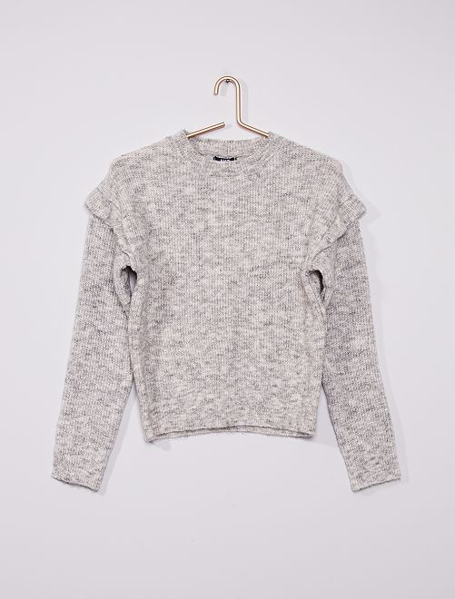 Pull en maille tricot                             gris