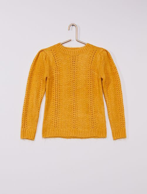 Pull en maille tricot                                                                 moutarde