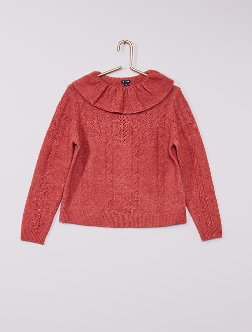 Pull en maille tricot                                                     ROSE