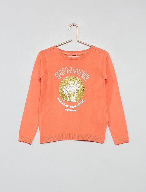Pull fin animé                                                                                         orange