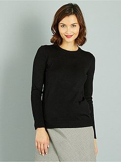 Sweat col rond - Pull fin col rond