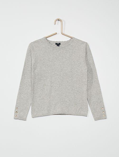 Pull fin en coton                                                                             gris