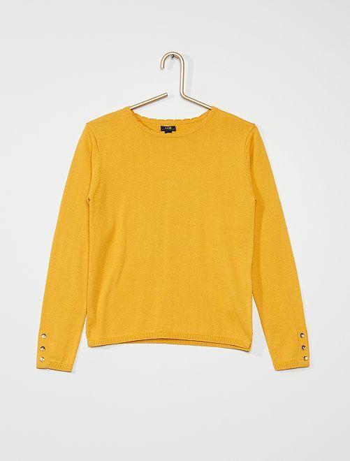 Pull fin en coton                                                                                                     jaune