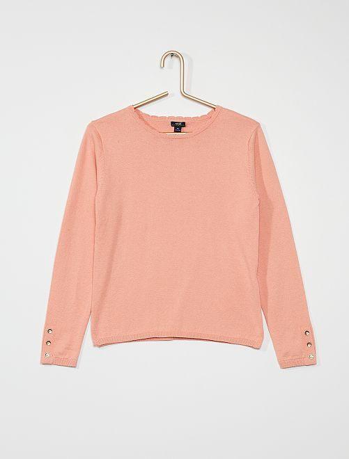 Pull fin en coton                                                                 rose