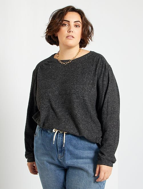 Pull fin en maille douce                                                                                                                 gris anthracite