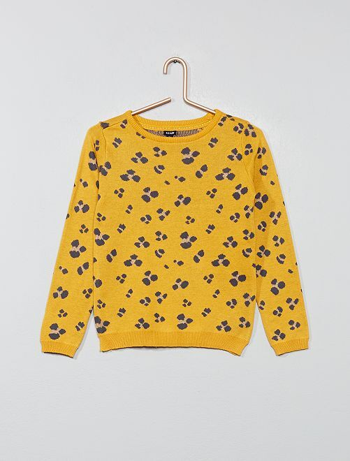 Pull fin 'léopard'                                                                                                     jaune