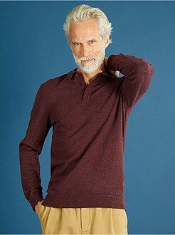 Homme du S au XXL Pull fine maille col polo