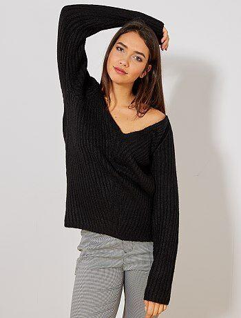eea36feab63 Pull col en v pour femme en ligne à petits prix Vêtements femme
