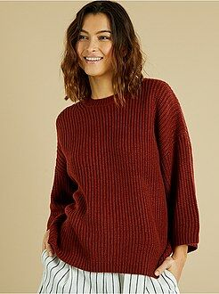 Pull - Pull grosse maille et manches larges - Kiabi