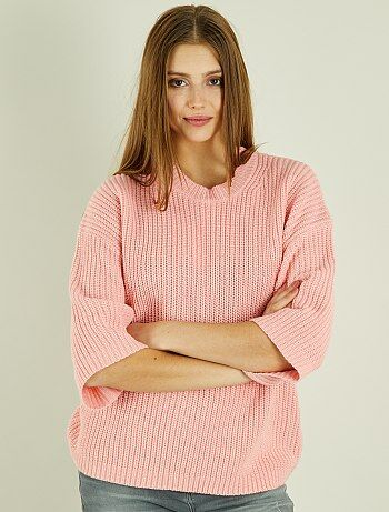 Pull grosse maille et manches larges - Kiabi