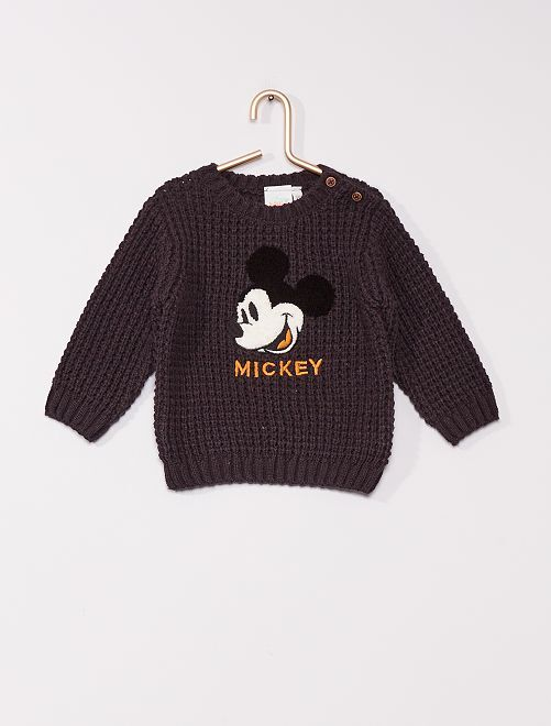 Pull grosse maille 'Mickey'                                         anthracite