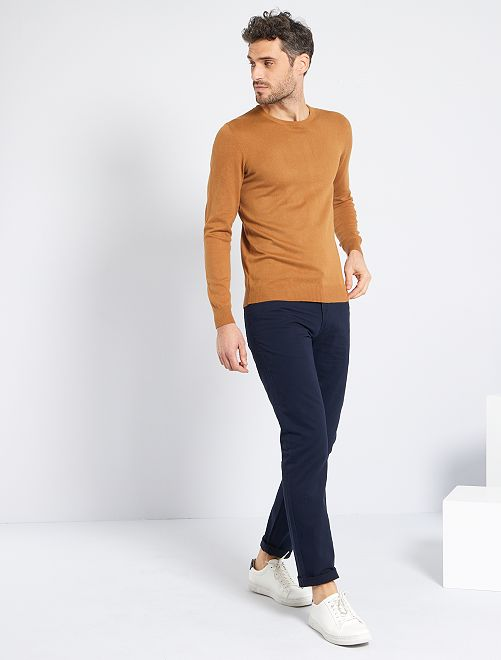 Pull léger col rond                                                                                                                                                     cappucino