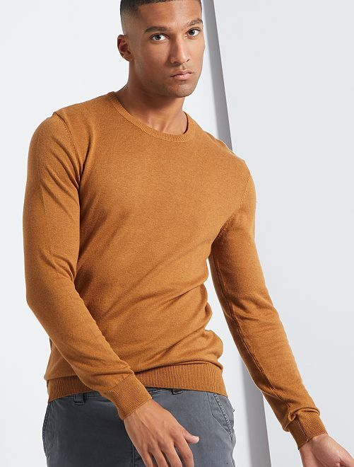 Pull léger col rond                                                                                                                 caramel