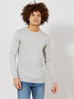 Pull, gilet - Pull léger col rond