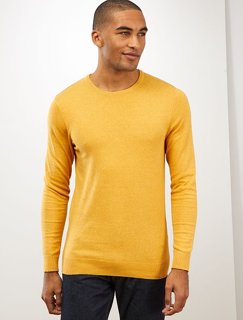 Pull léger col rond                                                                                                                                                                                         jaune